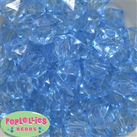 20mm Clear Baby Blue Ice Cube Bubblegum Bead