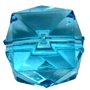 20mm Clear Blue Ice Cube Bubblegum Bead