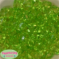 20mm Clear Lime Ice Cube Bubblegum Bead