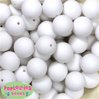 20mm White Chalk Bubblegum Beads Bulk