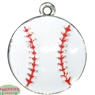 Small Enamel Baseball Charm