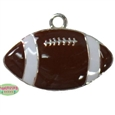 Small Enamel Football Charm