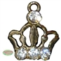 Enamel Gold Crown Charm
