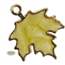 Enamel Fall Leaf Charm