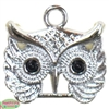 Small Silver Owl Charm