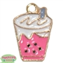 Small Enamel Ice Cream Soda Charm