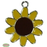 21mm Enamel Sunflower Charm
