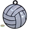 Small Enamel Volleyball Charm