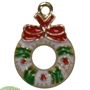 Enamel Christmas Wreath Charm