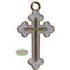 Small Enamel Cross Charm