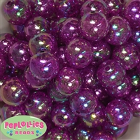 20mm Berry Crackle Bubblegum Bead