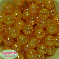 20mm Gold Crackle Bubblegum Bead Bulk