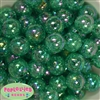 20mm Emerald Green Crackle Bubblegum Bead Bulk