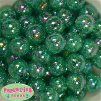 20mm Bulk Emerald Green Crackle Beads