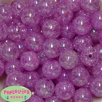 20mm Lavender Crackle Bubblegum Bead