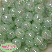 20mm Mint Crackle Bubblegum Bead Bulk