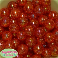 20mm Orange Crackle Bubblegum Bead Bulk