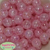 20mm Bulk Pink Crackle Beads