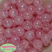 20mm Pink Crackle Bubblegum Bead Bulk