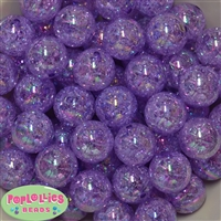 20mm Purple Crackle Beads