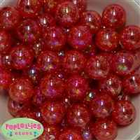 20mm Red Crackle Bubblegum Bead Bulk