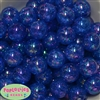 20mm Royal Blue Crackle Bubblegum Bead Bulk