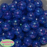 20mm Bulk Royal Blue Crackle Beads