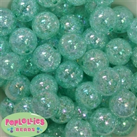 20mm Turquoise Crackle Bubblegum Bead Bulk