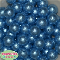 Baby Blue Crinkle Faux Pearl Beads