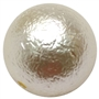 20mm Light Cream Crinkle Pearl Bubblegum Bead