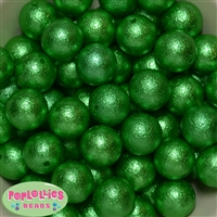 Green Crinkle Faux Pearl Beads