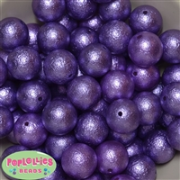 Purple Crinkle Faux Pearl Beads