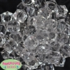 20mm Clear Ice Cube Bubblegum Bead