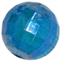 20mm Blue Disco Ball Bubblegum Beads