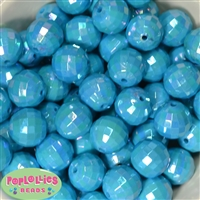 Blue Disco Bubblegum Beads