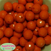 Orange Disco Bubblegum Beads