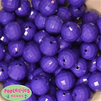 20mm Purple Disco Bubblegum Beads