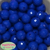 20mm Royal Blue Disco Ball Bubblegum Beads