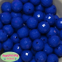 20mm Royal Blue Disco Ball Bubblegum Beads Bulk