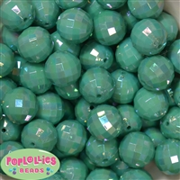 20mm Turquoise Disco Ball Bubblegum Beads Bulk