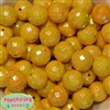 20mm Yellow Disco Ball Bubblegum Beads