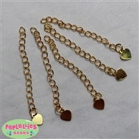 Heart Gold Tone Extension Chains
