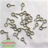 11mm x 5 mm silver eyelet screws