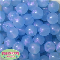 20mm Baby Blue Frost Acrylic Bubblegum Beads