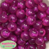 20mm Cranberry Frost Acrylic Bubblegum Beads