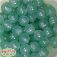 20mm Mint Frost Acrylic Bubblegum Beads