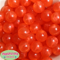 20mm Orange Frost Acrylic Bubblegum Beads