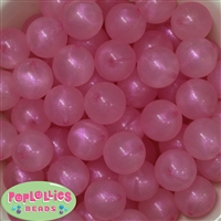 20mm Pink Frost Acrylic Bubblegum Beads
