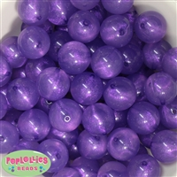 20mm Purple Frost Acrylic Bubblegum Beads