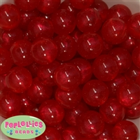 20mm Red Frost Acrylic Bubblegum Beads